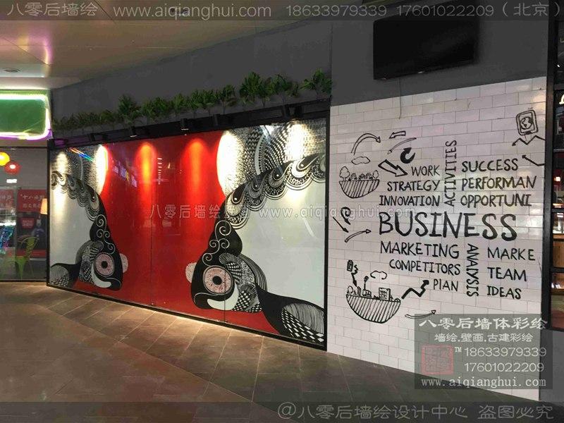 北京饭店墙体彩绘—炉匠