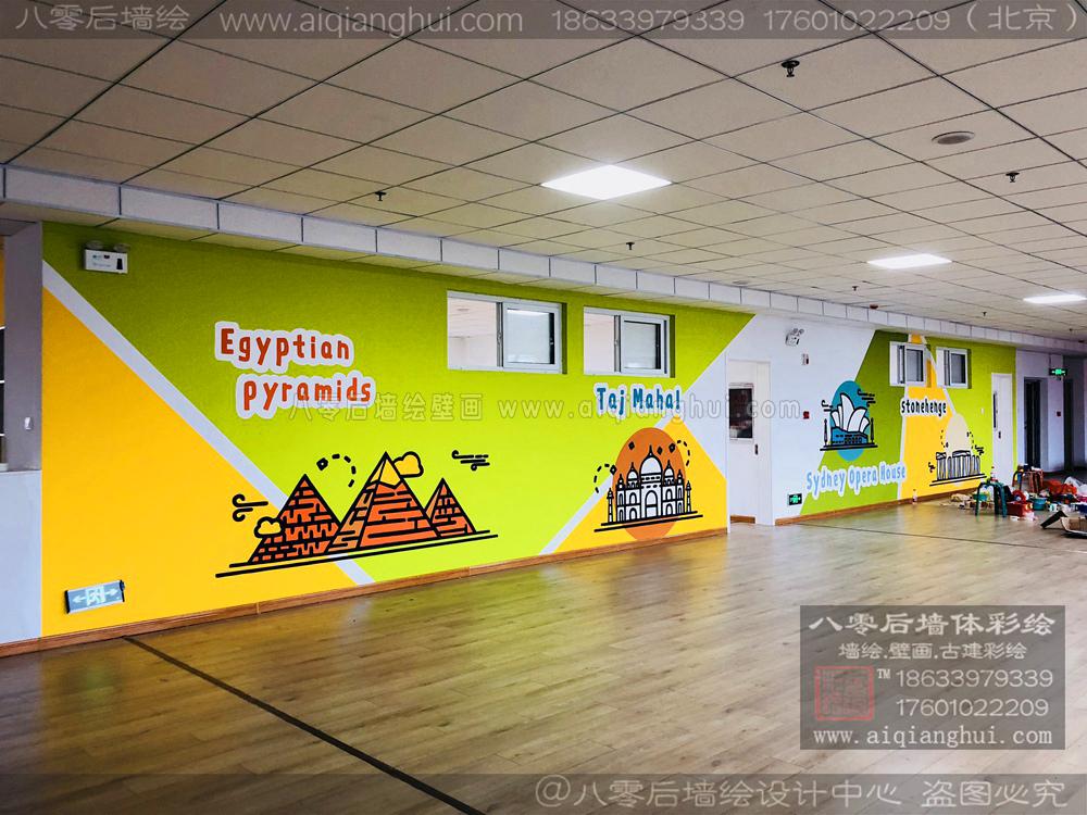 北京幼儿园墙绘早教手绘