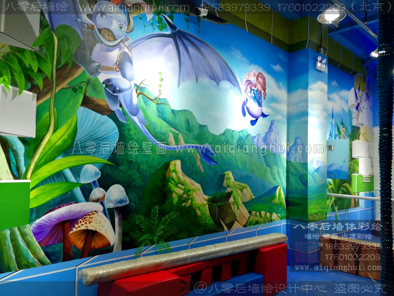 北京3D立体画—恩诺贝尔儿童淘气堡手绘墙